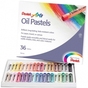 Pentel® Oil Pastel 36-Color Set: Multi, Stick, Oil, (model PHN36), price per set
