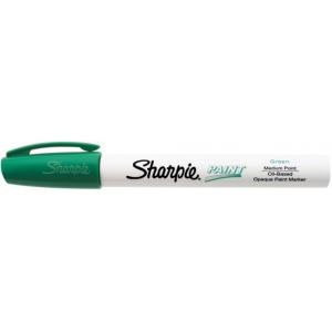 Sharpie® Oil Paint Marker Medium Green: Green, Paint, Medium Nib, (model SN35552), price per each