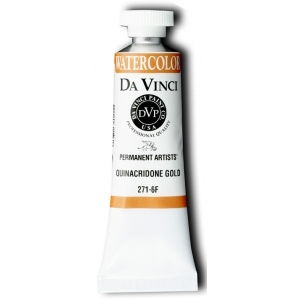 Da Vinci Artists' Watercolor Paint 15ml Quinacridone Gold: Metallic, Tube, 15 ml, Watercolor