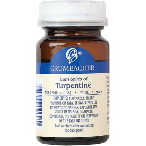 Grumbacher® Turpentine 2oz: Can, 2.5 oz, Solvents, (model GB568-2), price per each