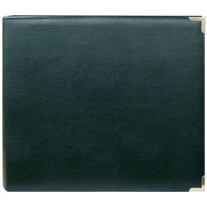 "Pioneer® 12 x 12 3-Ring Scrapbook Binder Green Oxford: Green, Leatherette, 12"" x 12"", (model TM12GOX), price per each"