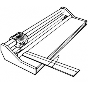 "Rotatrim® Extended Aluminum Rule 24"": Replacement Part, Trimmer, (model TX24), price per each"