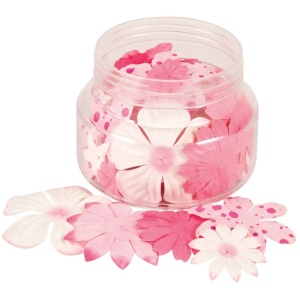 "Blue Hills Studio™ Irene's Garden™ Jar O'Blooms Pinks: Red/Pink, Paper, 2 1/2"", Dimensional, (model BHS802), price per each"
