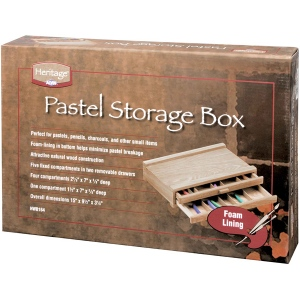 "Heritage Arts™ Pastel Storage Box 2 Drawer: Brown, Wood, 9 1/2""l x 14 3/4""w x 3 1/8""h, Storage Box, (model HWB164), price per each"