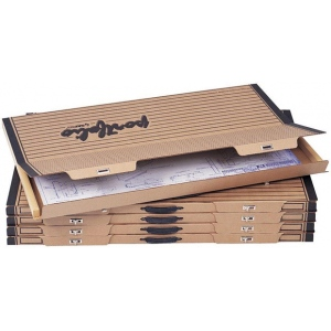 "Safco® Art & Drawing Portfolio 1-1/2 x 44-1/8 x 30-3/4: Brown, Paper, 30 3/4""l x 44 1/8""w x 1 1/2""h, (model 3009F), price per box"
