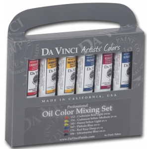 Da Vinci Paints Oil Color Paint Warm and Cool 6-Color Set