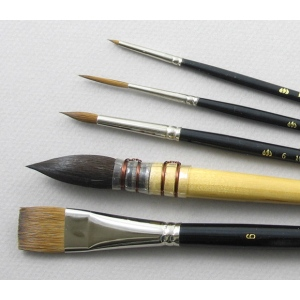 Trinity Brush Aquarelle Set of 5 Art Brushes