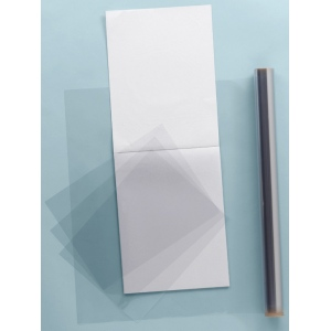 "Grafix® Clear-Lay™ 19"" x 24"" x .005"" Vinyl Film: Clear, Pad, 25 Sheets, 19"" x 24"", .005"", Film, (model 6302-8), price per 25 Sheets pad"