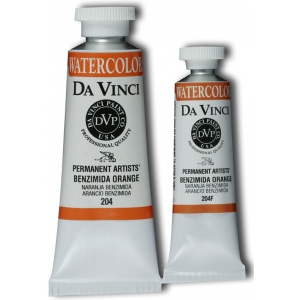 Da Vinci Artists' Watercolor Paint 37ml Benzimida Orange: Orange, Tube, 37 ml, Watercolor
