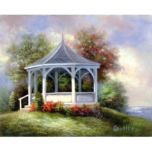 "Royal & Langnickel® Paint Your Own Masterpiece™ 11 x 14 Gazebo: 11"" x 14"", (model POM-SET7), price per set"