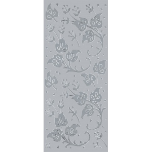 "Blue Hills Studio™ DesignLines™ Outline Stickers Silver #10: Metallic, 4"" x 9"", Outline"