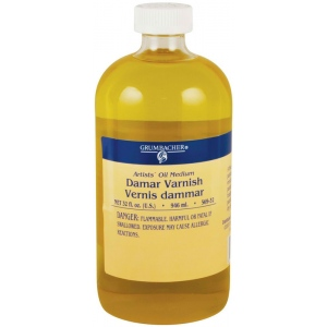 Grumbacher® Damar Varnish 946ml: Bottle, 32 oz, Varnish, (model GB56932), price per each