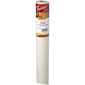 "Fredrix® Artist Series 53 x 6yd Cotton Acrylic Primed Canvas: White/Ivory, Roll, Cotton, 53"" x 6 yd, Acrylic, Primed, (model T2044), price per roll"