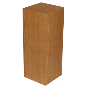 "Xylem Cherry Wood Veneer Pedestal: 15"" X 15"" Size, 12"" Height"