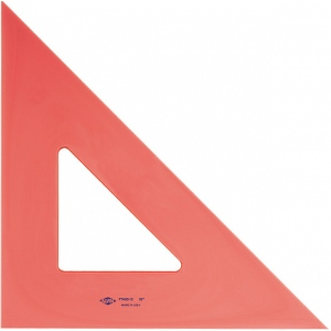 "Alvin® 8"" Fluorescent Triangle 45°/90°: 45/90, Orange, Polystyrene, 8"", Triangle, (model FT450-8), price per each"