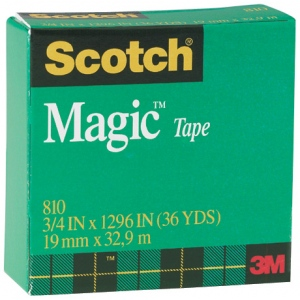 "Scotch® Magic™ 3/4"" x 1296"" Tape: General, 3/4"", (model 810), price per each"