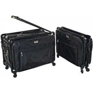 Tutto® Storage on Wheels Large Tote Bag with Interior Pockets: Black/Gray, Large, (model 5222CF-L), price per each