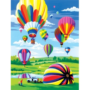 "Royal & Langnickel® Painting by Numbers™ 8 3/4 x 11 3/8 Junior Small Set Hot air Balloon: 8 3/4"" x 11 3/8"", (model PJS34), price per set"