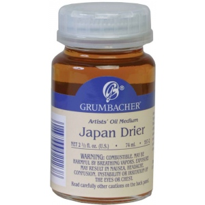 Grumbacher® Japan Drier 74ml: Bottle, 2.5 oz, Alkyd, (model GB5572), price per each