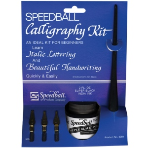 Speedball® Introductory Calligraphy Kit: India, C-Style, Lettering Nib, Calligraphy, (model H3059), price per kit