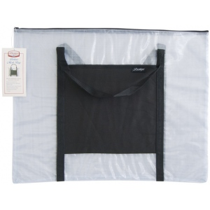 "Alvin® NBH Deluxe Series Deluxe Mesh Bag 20"" x 26"": Black/Gray, Clear, Mesh, Nylon, Vinyl, 20"" x 26"", (model NBH2026), price per each"