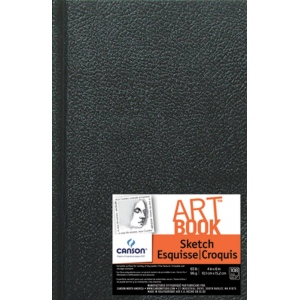 "Canson® ArtBook™ Artist Series 4"" x 6"" Hardbound Sketchbook: Sewn Bound, White/Ivory, Book, Black/Gray, 108 Sheets, 4"" x 6"", Sketching, 65 lb, (model C100510343), price per each"