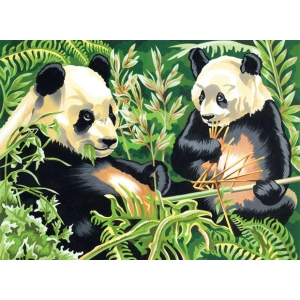 "Reeves™ Large Acrylic Painting By Numbers Set Panda: 12"" x 15 1/2"", (model PL88), price per each"
