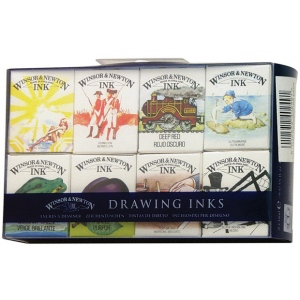 Winsor & Newton™ Drawing Ink Supplemental Set: Multi, Bottle, 14 ml, Drawing Ink, (model 1090094), price per set