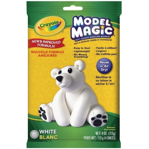 Crayola® Model Magic® Single Pack 4oz White: White/Ivory, 4 oz, Craft, (model 57-4401), price per each