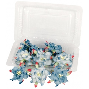"Blue Hills Studio™ Irene's Garden™ Box O'Gardenias Dimensional Paper Flowers Blueberry: Blue, Paper, 2"", 3"", Dimensional, (model BHS107523), price per box"
