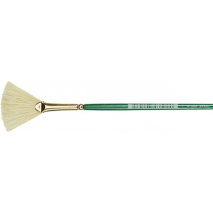 Princeton™ Good Synthetic Sable Watercolor and Acrylic Brush Fan 4: Good, Short Handle, Synthetic Sable, Fan, Acrylic, Watercolor, (model 4350FN-4), price per each