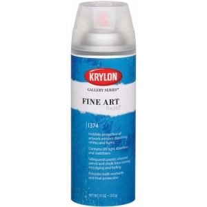 Krylon® Gallery Series™ Fine Art Fixatif Spray: 11 oz, Final Fixative, Workable Fixative, (model K1374), price per each