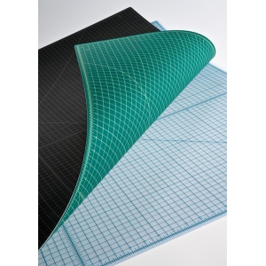 "Alvin® TM Series Translucent Professional Self-Healing Cutting Mat 18 x 24: Clear, Grid, Vinyl, 18"" x 24"", 3mm, Cutting Mat"