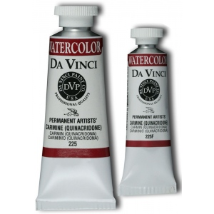 Da Vinci Artists' Watercolor Paint 37ml Carmine: Red/Pink, Tube, 37 ml, Watercolor