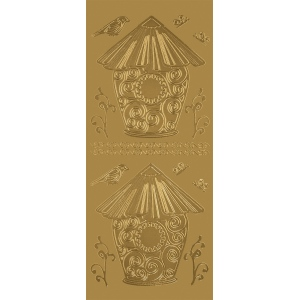 Blue Hills Studio™ DesignLines™ Outline Stickers Gold Metallic Outline