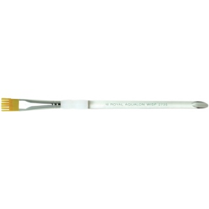 Royal & Langnickel® Aqualon Taklon Watercolor and Acrylic Brush Wisp Brush 1/4: Best, Short Handle, Taklon, Wisp Brush, Acrylic, Watercolor