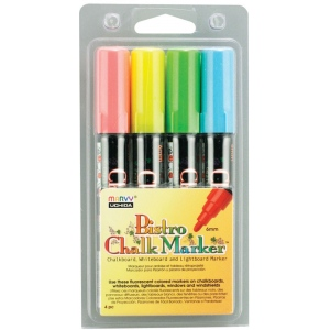 Marvy® Bistro Chalkboard and Lightboard 4-Color Sets