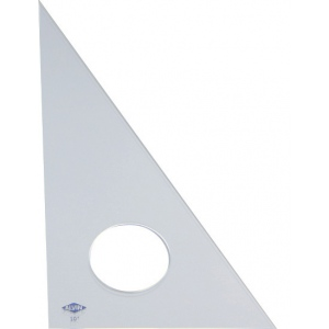 "Alvin® 18"" Clear Professional Acrylic Triangle 30°/60°: 30/60, Clear, Acrylic, 18"", Triangle, (model 130C-18), price per each"