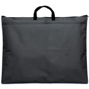 "Prestige™ Student™ Series Black Soft-Sided Portfolio 18"" x 21"": Black/Gray, 1/2"", Nylon, 18"" x 21"""