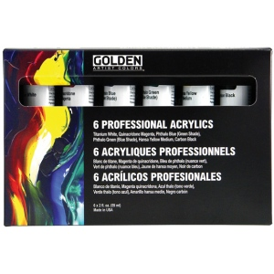 Golden® Heavy Body Acrylic Set: Multi, Tube, 2 oz, 59 ml, Acrylic, (model 0000910-0), price per set