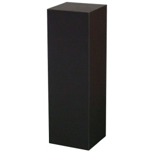 "Xylem Black Laminate Pedestal: 18"" x 18"" Base, 24"" Height"