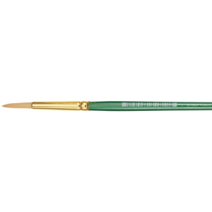 Princeton™ Good Synthetic Sable Watercolor and Acrylic Brush Round 1: Good, Short Handle, Synthetic Sable, Round, Acrylic, Watercolor, (model 4350R-1), price per each