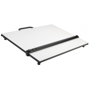 "Alvin® PXB Series Portable Parallel Straightedge Board 24"" x 36"": White/Ivory, 24"" x 36"", Melamine, Drawing Board, (model PXB36), price per each"