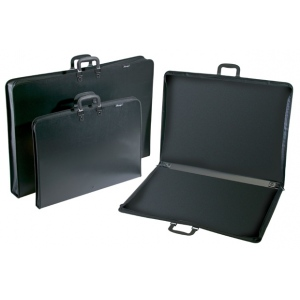 "Prestige™ Studio™ Series Lite Art Portfolio 3"" Gusset 23"" x 31"": Black/Gray, 3"", Polypropylene, 23"" x 31"", (model PC2331-3), price per each"