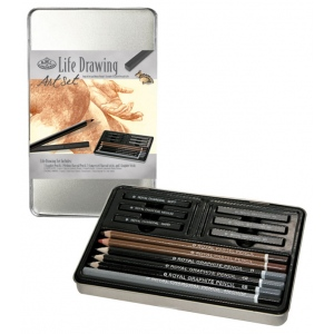 Royal & Langnickel® Life Drawing Small Tin Art Set: Multi, Drawing, (model RSET-ART2501), price per set