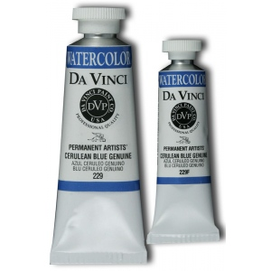 Da Vinci Artists' Watercolor Paint 37ml Cerulean Blue: Watercolor, (model DAV229), price per tube