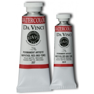 Da Vinci Artists' Watercolor Paint 15ml Naphthol Red: Red/Pink, Tube, 15 ml, Watercolor