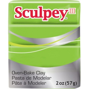 Sculpey® III Polymer Clay Granny Smith: Green, Bar, Polymer, 2 oz