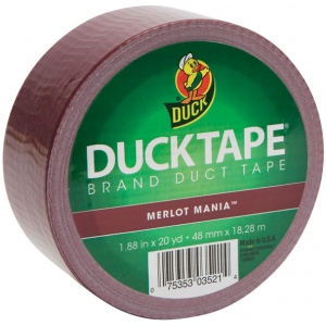 Duck Tape® Color™ Maroon Tape (Roll): Purple, Roll, 20 yd, Color