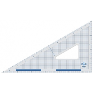 "Alvin® 14"" Cutting Edge Triangle 30°/60°: 30/60, Clear, Acrylic, 14"", Triangle, (model ACT360-14), price per each"
